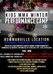 Kids MMA Winter Camp