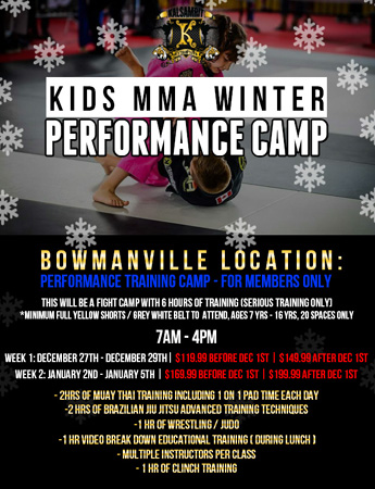 Kids MMA Winter Camp