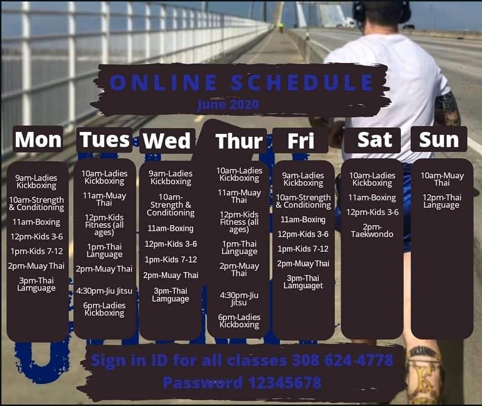 Online Schedule June